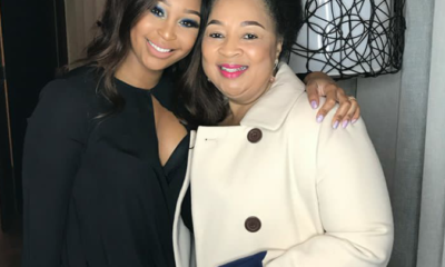 Minnie Dlamini and her mom
