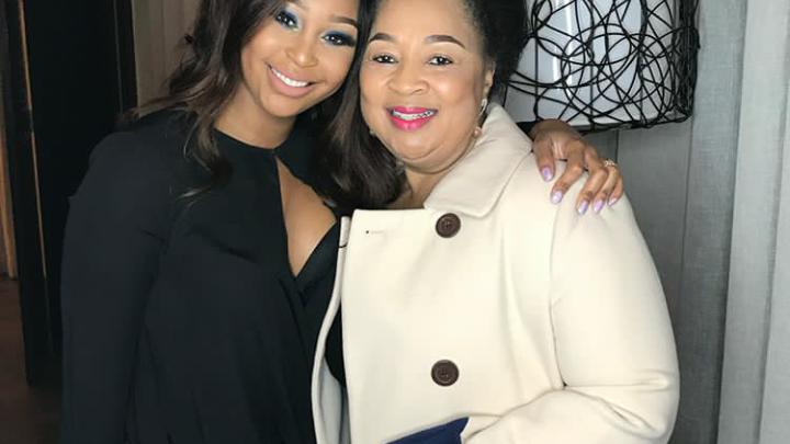 Minnie Dlamini and her mom