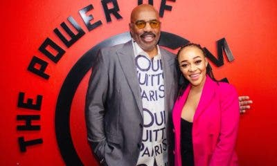 Steve Harvey and Thando Thabethe